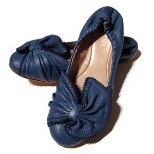 Chloé Ballet Flats   Blue Leather   US 5.5